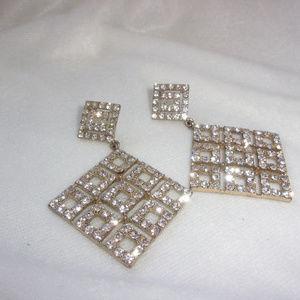 Jewelry - Glitz and Glamour rhinestone dangle earrings
